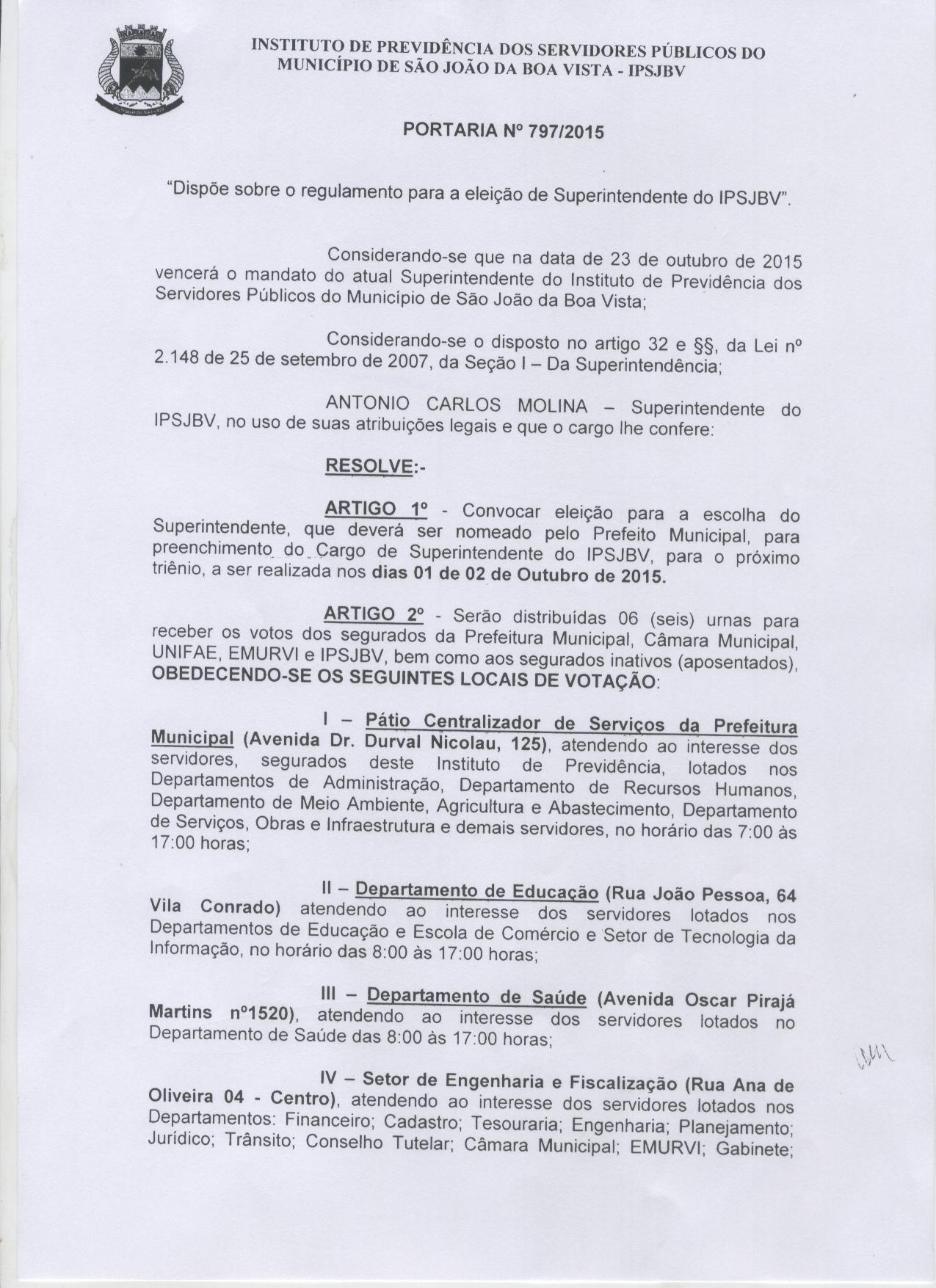 Instituto de Previdencia 001