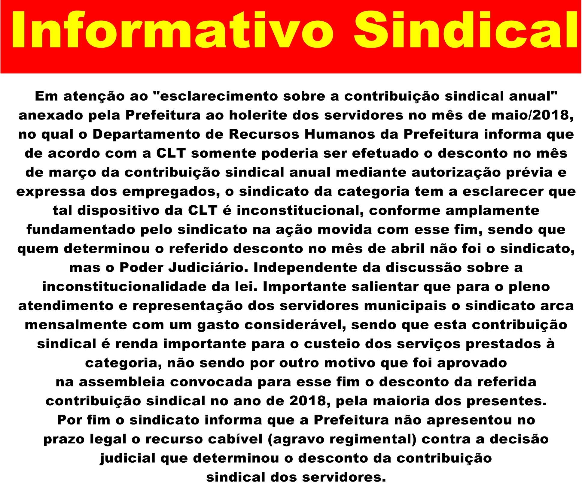 Informativo Sindical